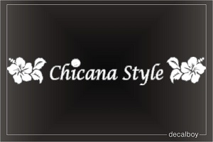 Chicana Style Flowers Auto Decal