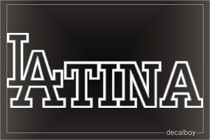 Latina 2 Auto Decal