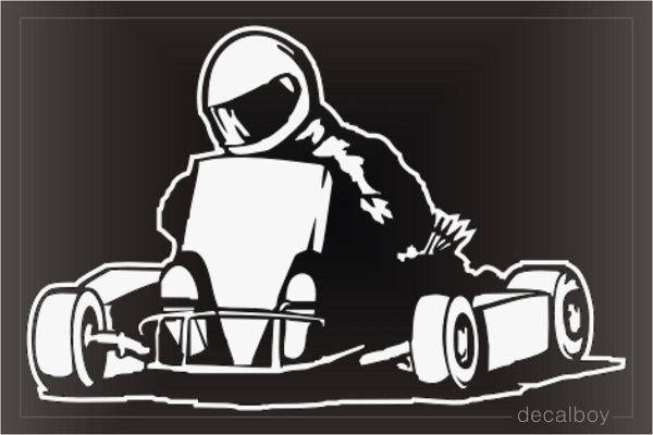 Karting Carting Window Decal