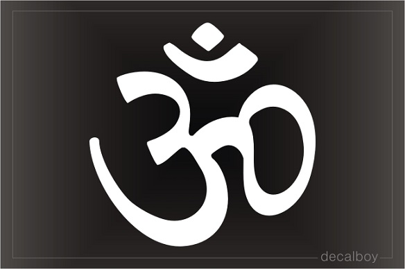 Om Hindu Sign Window Decal
