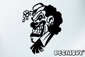 Clown 1 Car Window Decal