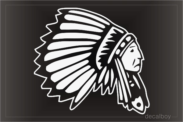Indian Cherokee Chief Car Window Decal