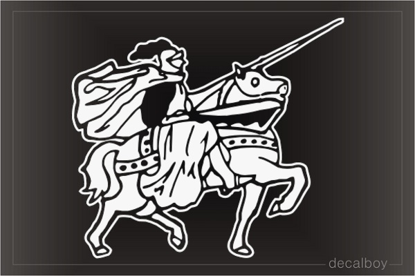 Knight 123 Car Window Decal