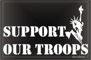 Support Our Troops 2 Auto Decal