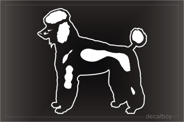 Poodle 2 Car Window Decal
