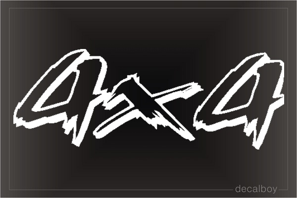 Racing 4x4 2 Window Decal