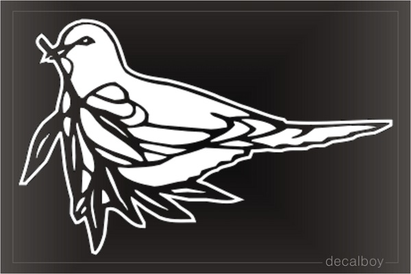 Dove Clipart Window Decal