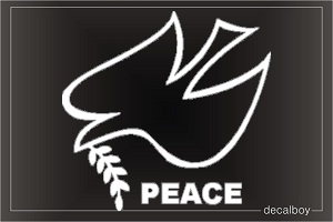 Peace Dove Olive Branch Window Decal