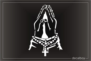 Praying Hands 2 Window Decal