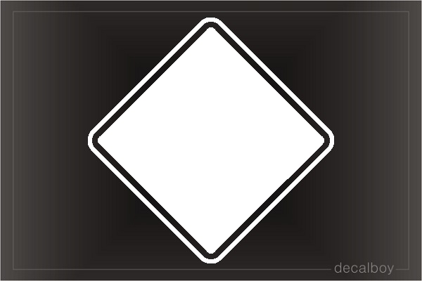 Diamond Square Car Decal