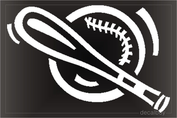 Baseball Bat Window Decal