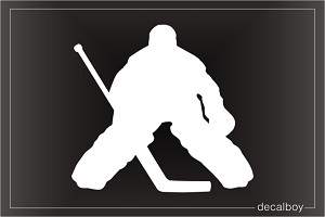 Hockey Goalie Player Window Decal