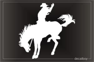 Rodeo Cowboy Horse Car Window Decal