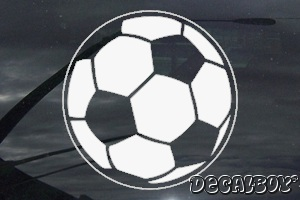 Soccerball 55 Window Decal