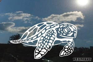 Sea Turtle Design Window Decal