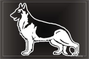 German Shepherd 22 Car Window Decal