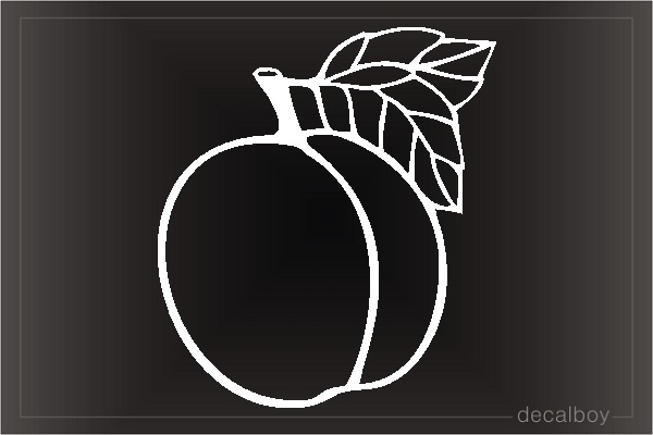 Peach 2 Car Window Decal