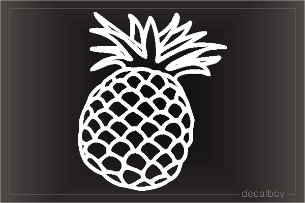 Pineapple 2 Car Window Decal