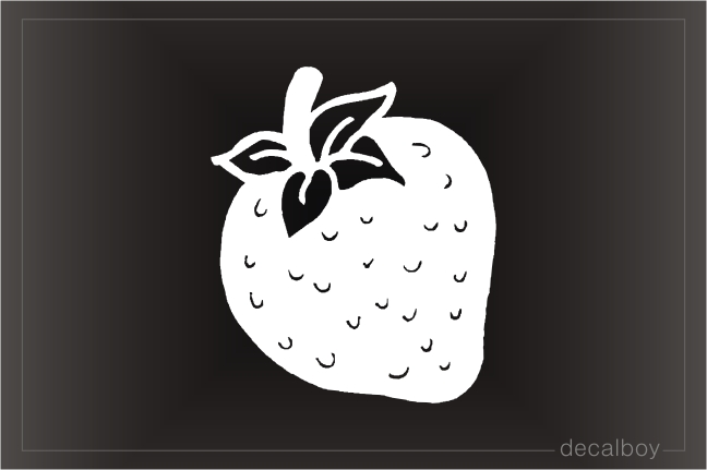 Strawberry Nectarine Car Window Decal