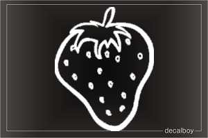 Strawberry 24 Car Window Decal