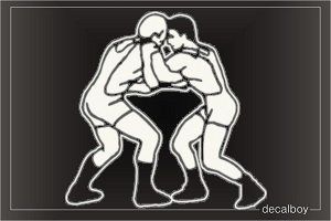 Wrestling 2312 Window Decal