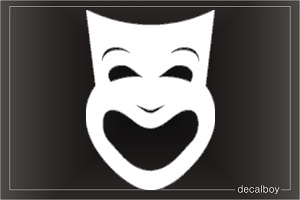 Mask Smile Car Decal