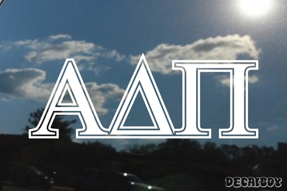 Alpha Delta Pi Vinyl Die-cut Decal