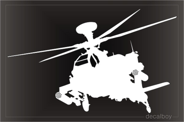 Ah 64 Apache Helicopter Decal