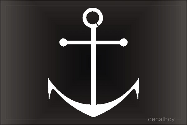 Anchor 12 Car Decal