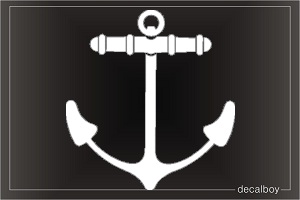 Anchor 123 Car Decal
