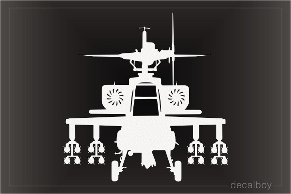 Helicopter Apache Window Decal