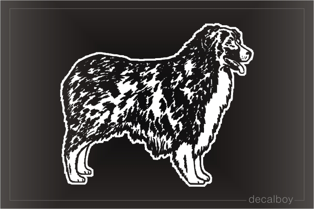 Australian Shepherd Car Window Decal