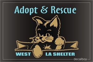 Adopt And Rescue Decal