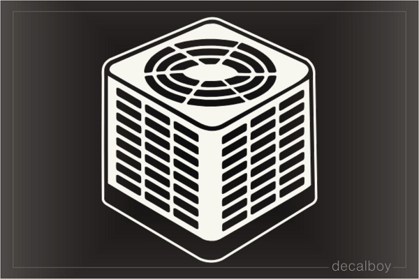 Air Conditioning Unit Decal