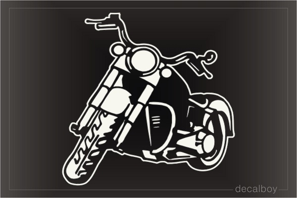 American Motorcycle Parked Decal