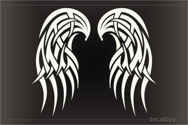 Angel Wings Tribal Tattoo Decal