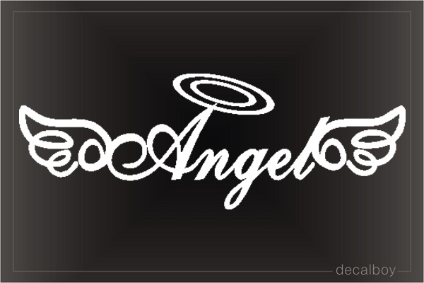 Angel Window Decal