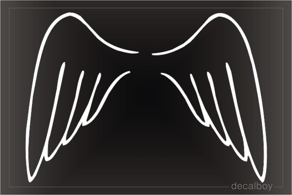 Angel Wings Design Window Decal