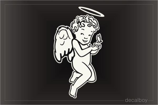 Angel Halo Wings Window Decal