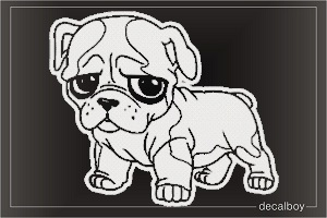 Bulldog 7 Car Window Decal