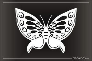 Blue Morpho Butterfly Design Window Decal