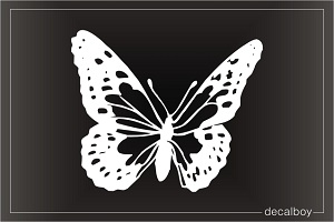 Small Copper Butterfly Window Decal