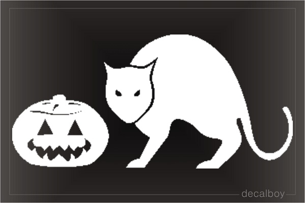 Cat Halloween Window Decal