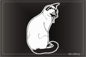 Cat Balinese Window Decal