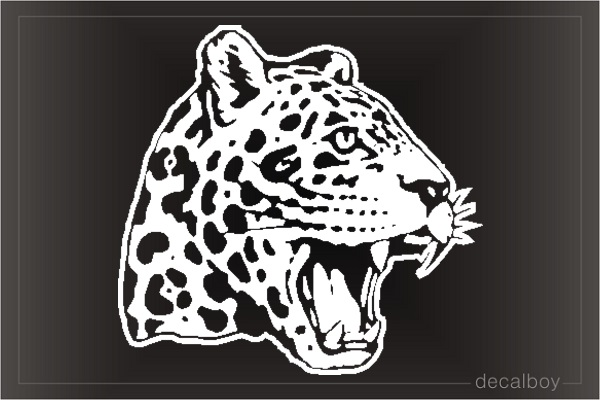 Cheetah Window Decal