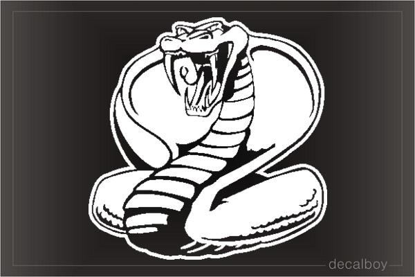 Cobra Window Decal
