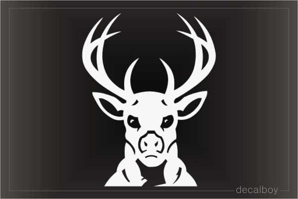 Stag Head Window Decal