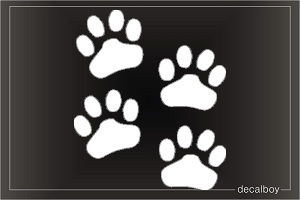 Paw Print Car Window Decal