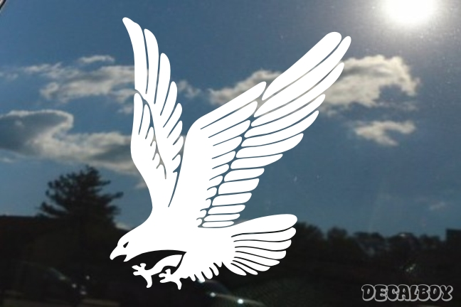 Eagle Attacking Window Decal