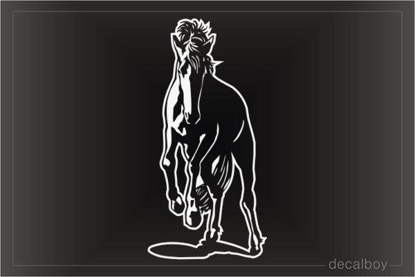 Horse Bronco Car Window Decal
